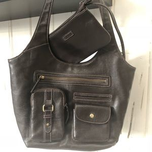 Dark Brown Strada Bag and Cosmetic/Coin Case